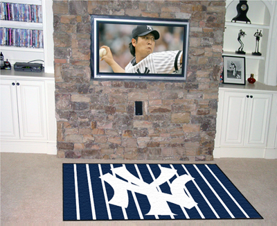 new york yankees area rug 100 nylon surface with latex backing 3 Sport Doormats | What You Might Not Know