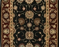 Nourison 2000 2017 Black Traditional Custom Runner