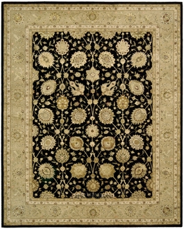 Nourison 3000 3105 Black Area Rug by Nourison