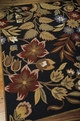 Nourison In Bloom INB01 Black Area Rug
