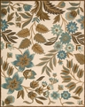 Nourison In Bloom INB01 Ivory Area Rug
