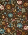 Nourison In Bloom INB08 Chocolate Area Rug