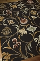Nourison In Bloom INB09 Black Area Rug