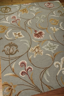 Nourison In Bloom INB09 Smoke Area Rug