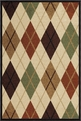 Orian Four Seasons Arbor Argyle Bisque Outdoor Area Rug