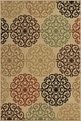 Orian Four Seasons Catalina Bisque Outdoor Area Rug