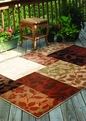 Orian Four Seasons Monique Multi Outdoor Rug