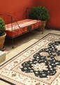 Orian Four Seasons Shazad Black Outdoor Area Rug