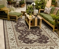 Orian Four Seasons Shazad Cafe Au Lait Outdoor Area Rug