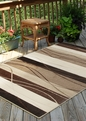 Orian Four Seasons Tonal Stripe Mink Outdoor Area Rug