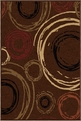 Orian Nuance Centric Brown Area Rug