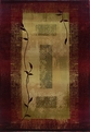 Oriental Weavers Sphinx Generations 544X1 Dark Red Area Rug