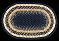 Braided C-79 Light Blue/Dark Blue/Mustard Earth Rugs