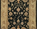 Patina 09 Black Traditional Carpet Stair Runner