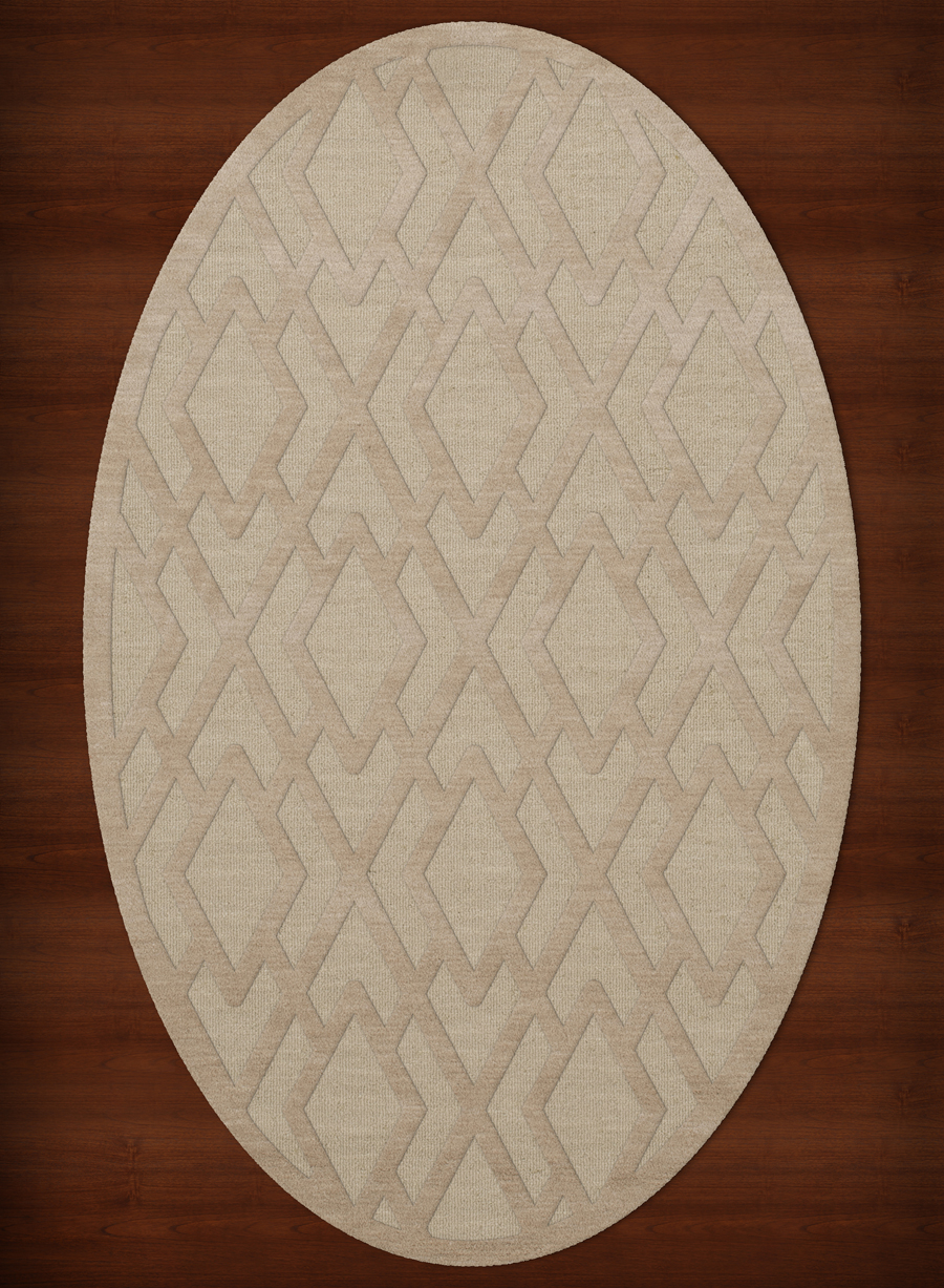 Payless Troy TR1 148 Linen Oval Rug