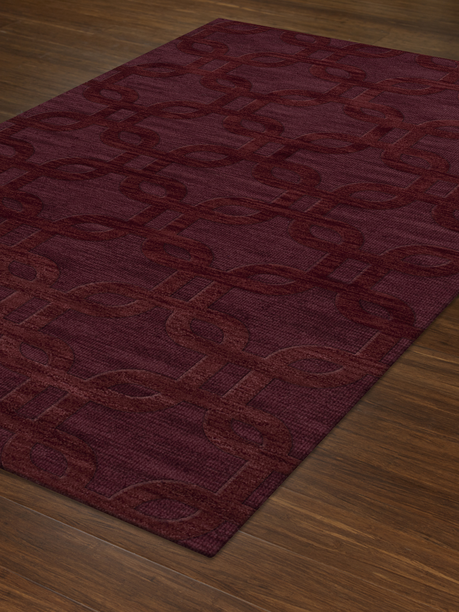 Payless Troy Tr7 150 Burgundy Rectangle Area Rug Payless