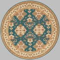 Persian Garden PG-01 Teal Blue Area Rug by Momeni