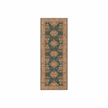 Persian Garden<br>PG-01 Teal Blue<br>Machine Made<br>100% Wool<br>Momeni Rugs