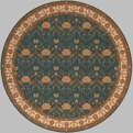 Persian Garden PG-12 Teal Area Rug by Momeni