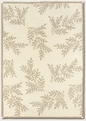 Pine Hills White 2150/6000 Super Indo Natural Area Rug by Couristan