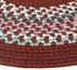 Pioneer Valley II 1595-87 Indian Summer with Burgundy Solid Braided Area Rug by Thorndike Mills