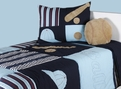 Play Ball<br>BT-692<br>Blue/Multi<br>100% Cotton<br>RizKids Bedding