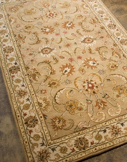 Poeme Normandy PM38 Dark Sand / Cloud White Area Rug by Jaipur