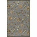 Rain RAI-1003 Pale Blue Tan Beige Outdoor Area Rug by Surya