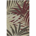 Rain RAI-1006 Beige Moss Cranberry Outdoor Area Rug by Surya