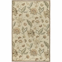 Rain RAI-1011 Beige Brown Moss Dark Sage Outdoor Area Rug by Surya