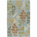 Rain RAI-1037 Pale Blue Green Rust Outdoor Rug by Surya