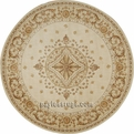 Round Ashton House AS01 Beige Area Rug by Nourison