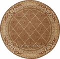 Round Ashton House AS03 Cocoa Area Rug by Nourison