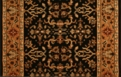 Royal Kashimar Ushak 8198/2596a Black Deep Maple Carpet Stair Runner