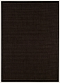 Couristan Saddle Stitch Black 1001/2000 Recife Rug