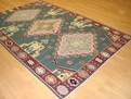 Santa Fe SAF04 Green Hand Woven Flat Weave Kilm 100% Wool Payless Rugs Discontinued Limited Stock