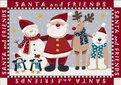Seasonal Inspirations <br>534533-0235 <br>Santa And Friends� <br>100% Nylon Fiber <br>Machine Made <br>Milliken Rugs <br>On Sale