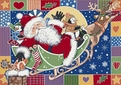 Seasonal Inspirations <br>534533-0276 <br>Patchwork Santa� <br>100% Nylon Fiber <br>Machine Made <br>Milliken Rugs <br>On Sale