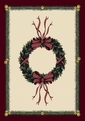 Seasonal Inspirations <br>534533-0550 <br>Holiday Wreath� <br>100% Nylon Fiber <br>Machine Made <br>Milliken Rugs <br>On Sale