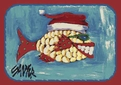 Seasonal Inspirations <br>536088-6044 <br>Santa Fish� <br>100% Nylon Fiber <br>Machine Made <br>Milliken Rugs <br>On Sale