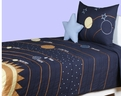Solar System<br>BT-693<br>Blue/Multi<br>100% Cotton<br>RizKids Bedding