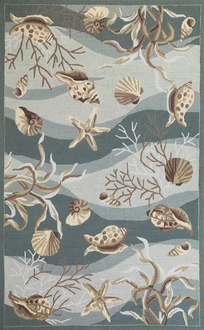 Sonesta 2003 Seafoam Shells Area Rug by Kas