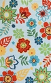 Sonesta 2005 Light Blue Retro Floral Rug by Kas