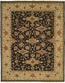 Soumak SU-147 Black Ivory Area Rug by Kalaty