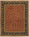 Soumak SU-149 Rust Black Area Rug by Kalaty