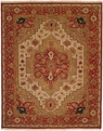 Soumak SU-189 Ivory Red Area Rug by Kalaty