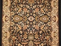 Sovereign SV02 Black / Ivory Traditional Carpet Stair Runner