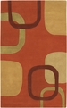 Stella Smith STS-9007 Rust Beige Moss Grape Area Rug by Surya
