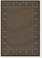Couristan Chimes Cocoa Black 1523/0121 Recife Rug