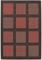 Couristan Summit TerraCotta Black 1043/4000 Recife Rug